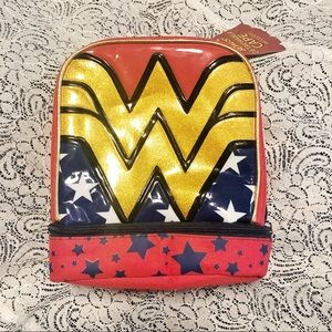 NWT Wonder Woman Lunchbox Super Hero Red Gold